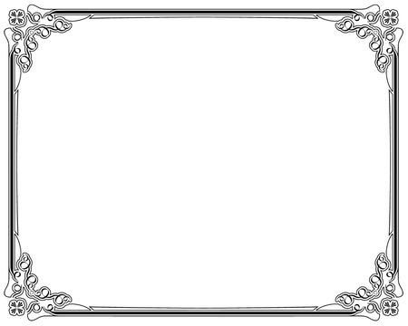 page decoration: Hoeken en randen pagina decoratie