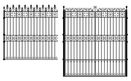 Gate and fence Stock Vector - 5964009