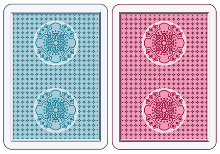 playing cards: Abstract cards back