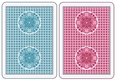 Abstractas tarjetas volver