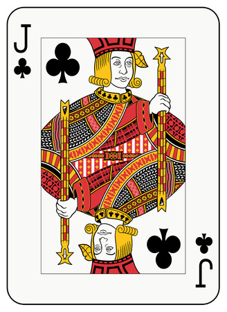 jack of clubs: Jack of clubs playing card Illustration