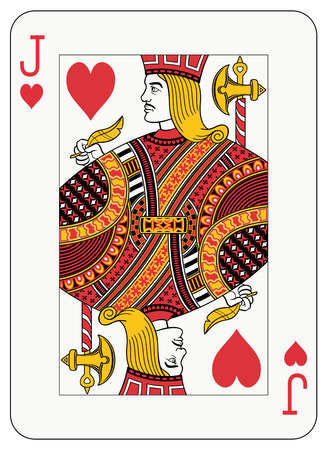 studs: Jack of hearts playing card