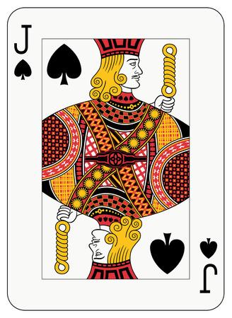 playing card symbols: Jack de tarjeta de juego de picas