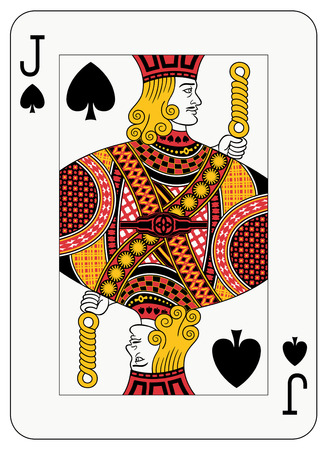 card suits symbol: Jack of spades playing card Illustration