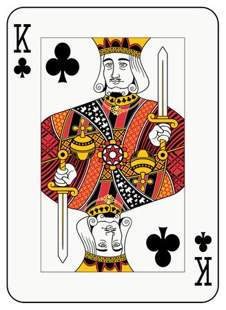 studs: King of clubs playing card