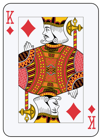 card suits symbol: King of diamonds playing card Illustration