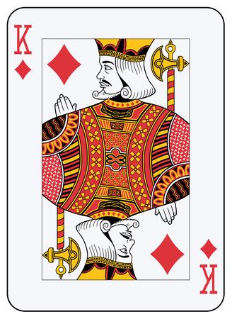 King of diamonds playing card Illustration