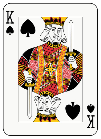 studs: King of spades playing card