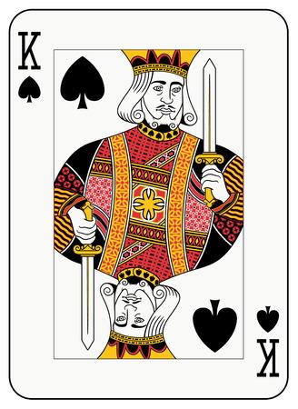 playing card symbols: Rey de picas baraja  Vectores