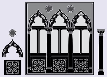 architectural elements: Tres ventana de luz y elementos arquitect�nicos