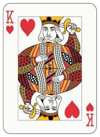playing card symbols: Rey de la tarjeta de juego de diamantes  Vectores