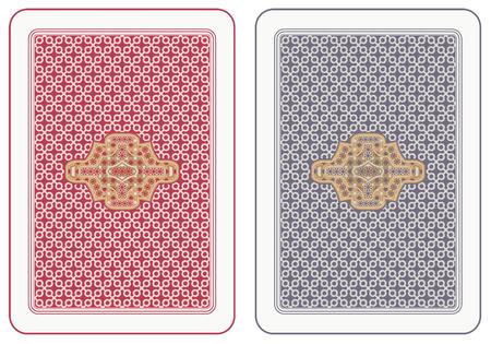 Jugar a las cartas volver diseño abstracta Ilustración de vector