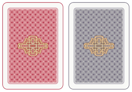 leisure games: Playing cards back abstract design Illustration