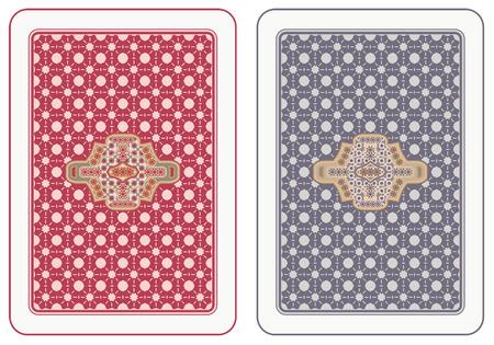 Jugar a las cartas volver diseño abstracta