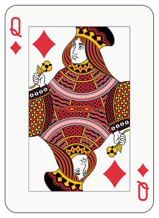 queen diamonds: Regina dei diamanti carte da gioco