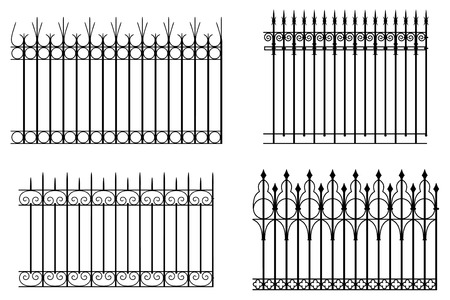 iron fence: Fences