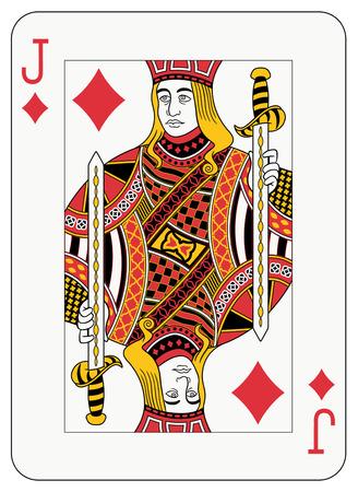 diamante negro: Jack de tarjeta de juego de diamante