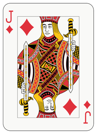 card suits symbol: Jack of diamond playing card