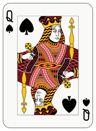 Koningin van spade speelkaart