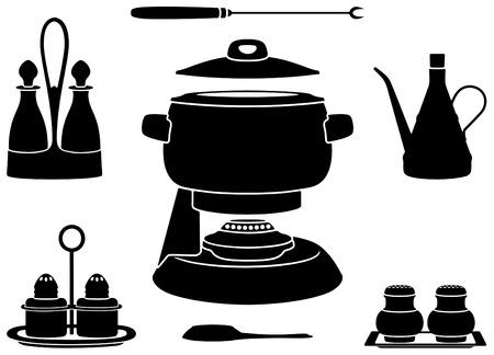 Fondue pot Vector