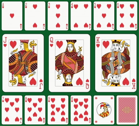 playing card set symbols: Heart suit