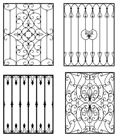 banister: Wrought iron modules Illustration