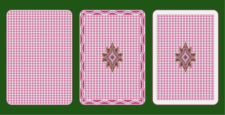 Playing cards back three different arrangements Vector