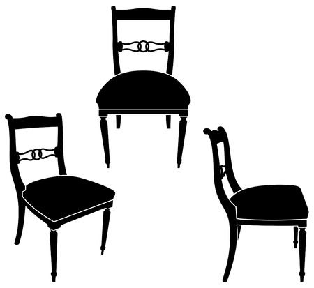 The same chair in three different sights Stock Vector - 7119694
