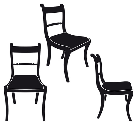 The same chair in three different sights Stock Vector - 7219390