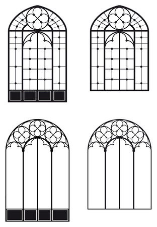 architectural elements: windows and door-windows, two different sets