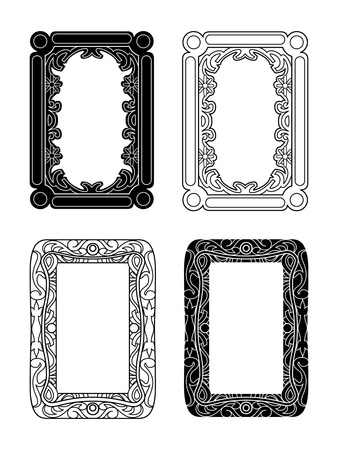 black and white and outlined picture frames Stock Photo - 10978576