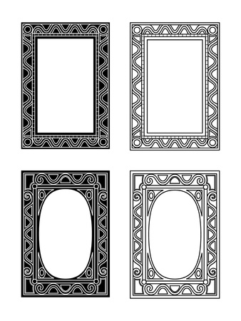 black and white and outlined picture frames Stock Photo - 10978577