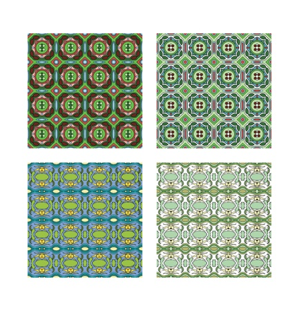 Two kinds of pattern in two different colours. Stock Photo - 10978581