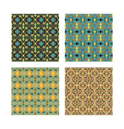 four pattern: The same pattern in four different colours.