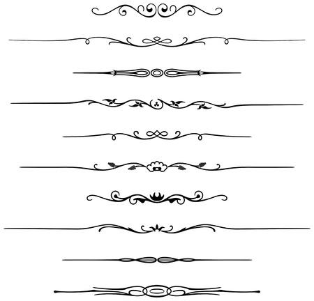 Tien andere pagina regels voor een elegant design