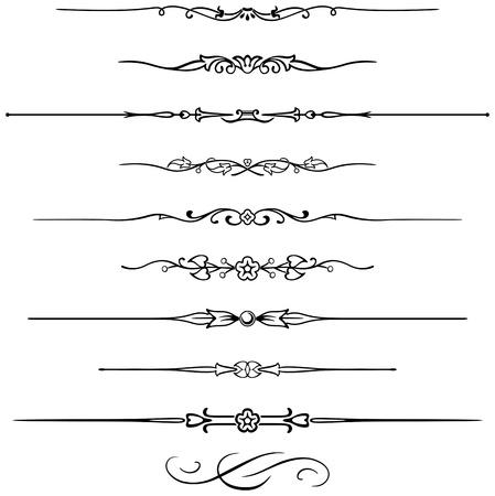 fretwork: Diez reglas de p�gina diferente para un dise�o elegante Vectores