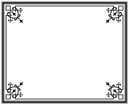 old elegant black and white frame magasin  Stock Vector - 14660606