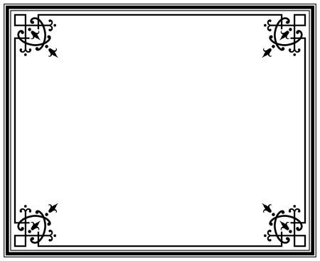 old elegant black and white frame magasin Stock Vector - 14660606