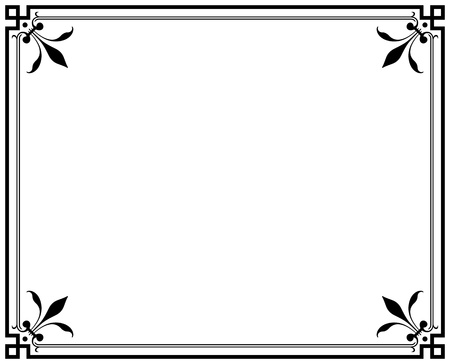 old elegant black and white frame magasin 免版税图像 - 14660605