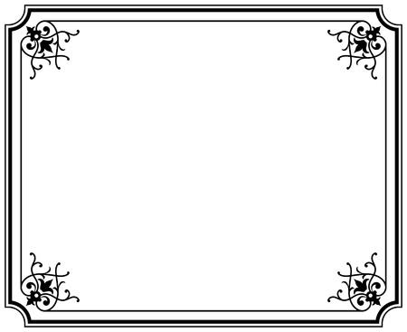 viejo elegante marco negro y blanco magasin Ilustración de vector