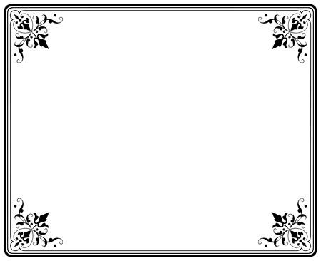 marco blanco y negro: viejo elegante marco negro y blanco magasin