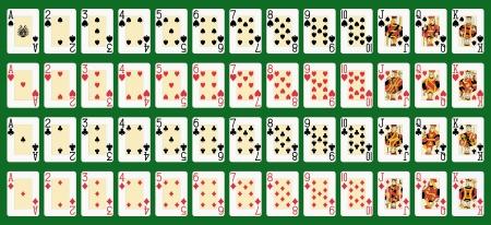 cartas de poker: blackjack cubierta completa en figuras de tamaño grande original