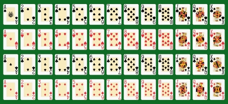 Blackjack Volldeck im Großformat Original-Zahlen Standard-Bild - 14660611