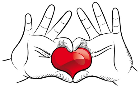 Pair of hands forming a heart Stock Vector - 17344107