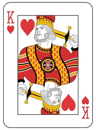 playing card: King of Hearts. Original Design.