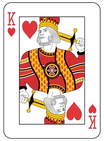 King of Hearts. Ursprünglicher Entwurf. Standard-Bild - 20366236
