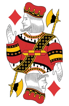 König der Diamanten ohne Karte. Ursprünglicher Entwurf Standard-Bild - 20366240