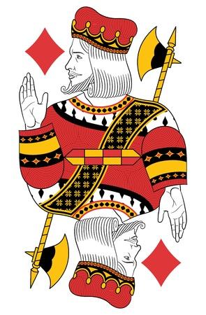 King of Diamonds without card. Original design Stock Vector - 20366240