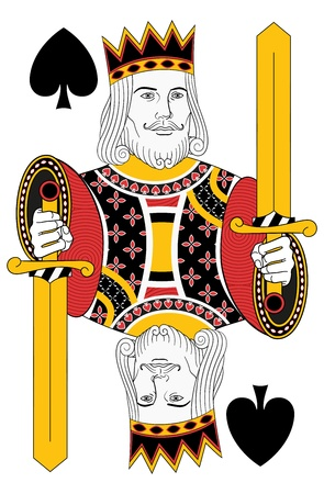 playing card: Kings of Spades without card. Oriinal design Illustration