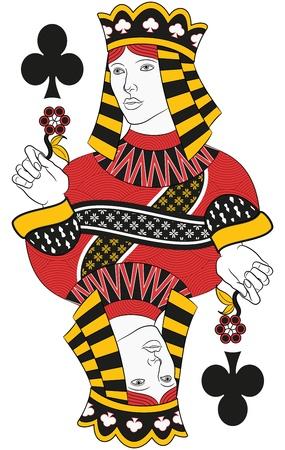 queen of clubs: Queen of Clubs no card. Original design